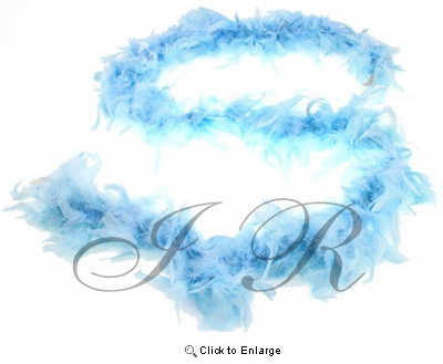 """Lt. Blue Chandelle 72"""", 6 Feet Feather Boas - Pack of 6"""