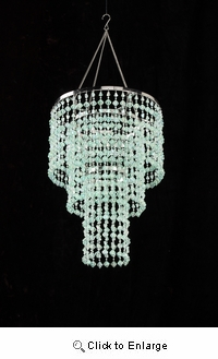 Mint Gemstone Beaded Chandelier