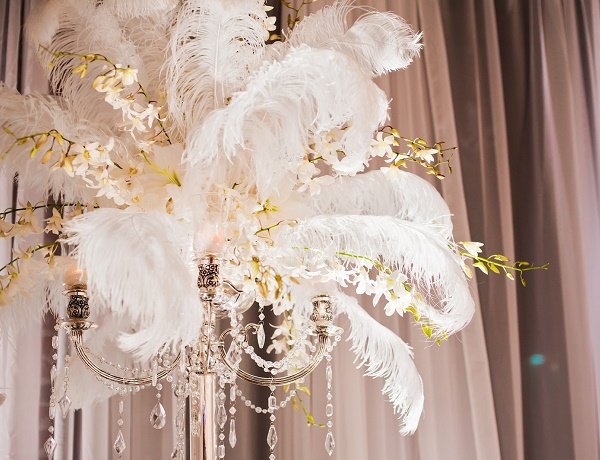 Ostrich feathers quot wedding centerpieces