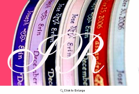 Personalized Satin Ribbon Sold by  100 Pieces   As Low as 3.99 each