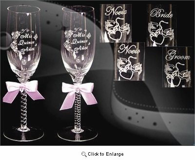 Pink Mis Quince Champagne Set - Pack of 2