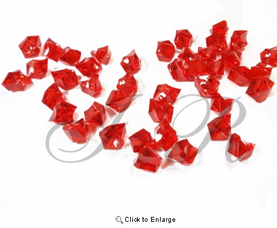 Red Acrylic Rocks Acrylic Ice 1 Pound Per Pack