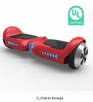 Chic Junior  Kids Hoverboard UL2272 Certified 4.5 Inch Mini Self Balance 2 Wheels Electric Scooter w/ Running LED | Color: Red
