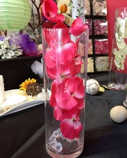 Artificial orchid silk flowers centerpiece decoration silk orchid sold by pack of 6 fuschia flower sale 167 per stem mightylinksfo