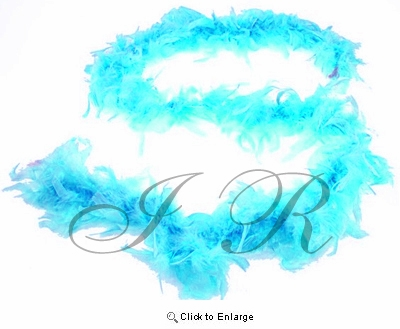 """Turquoise Chandelle 72"""", 6 Feet Feather Boas - Pack of 6"""