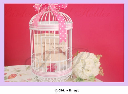 "Wedding Birdcage, Birdcage,(Bird Cage)card holder <br>9.5"" Diameter x 20"" height <br>White Metal Pack of 1"