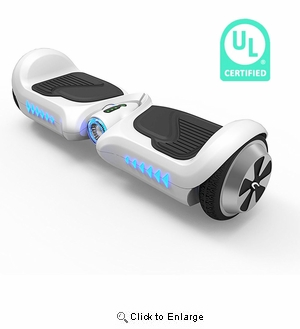 Chic Junior  Kids Hoverboard UL2272 Certified 4.5 Inch Mini Self Balance 2 Wheels Electric Scooter w/ Running LED | Color :  White