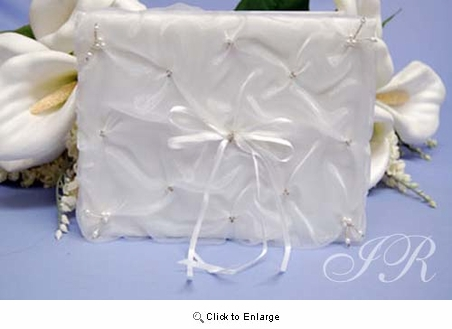 White Satin Guest Book Pack of 1