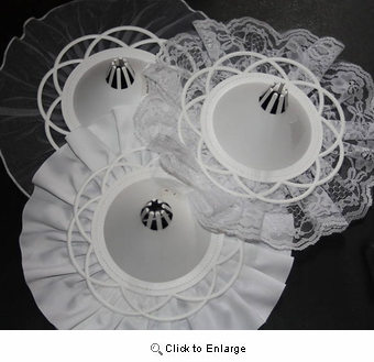 White Wedding Floral Bouquet Collar Holder
