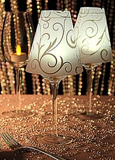 Wine Glass Candle Light ,Lamp Swirl Vellum Shades | WEDDING ,DIY Party  Table Decoration