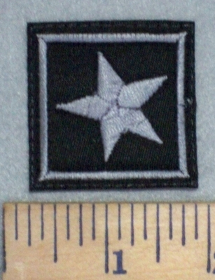 3426 L - 1 Star - Gray - Embroidery Patch