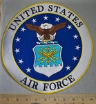 650 G -  discontinued Uniterd StatesAir Force - Round - Back Patch - Embroidery Patch