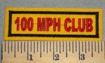 2373 L - 100 MPH Club - Embroidery Patch