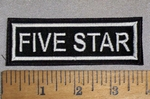 116 L - Five Star - Embroidery Patch