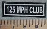 2643 L - 125 MPH Club - White - Embroidery Patch