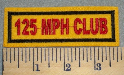2397 L - 125 MPH Club - Yellow Background - Embroidery Patch
