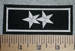 2673 L - 2 Stars - Embroidery Patch