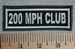 2651 L - 200 MPH Club - Embroidery Patch