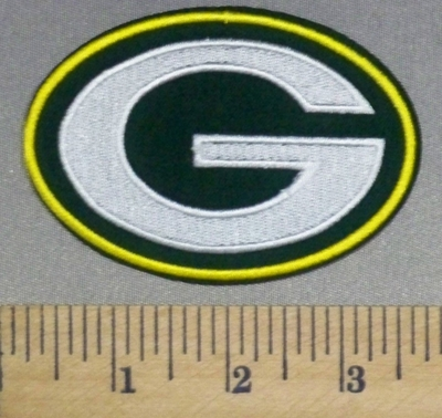 2498 C - Green Bay Packers Logo - Embroidery Patch