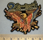 2490 G - 2nd Amendment -Eagle with American Flag,Arrows and Two Shot Guns - Embroidery Patch