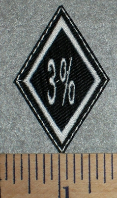 2686 L - 3% Diamond  - Embroidery Patch