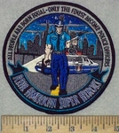 3564 W - All people Are Born Equal - Real American Super Heroes - Police Officer - Round - Embroidery Patch