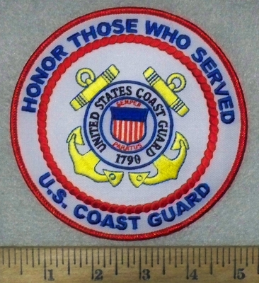 3565 W - Honor Those Who Served - U.S. Coast Guard - Round - Embroidery Patch