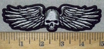 3567 G - Skull Face With Wings - 5 Inch - Embroidery Patch