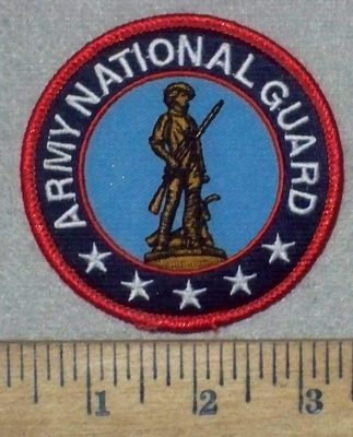 3572 W - Army National Guard - Round - Embroidery Patch