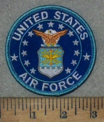 3573 W - United States Air Force -Round - Embroidery Patch