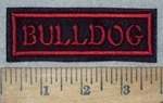 3595 L - Bulldog - Red - Embroidery Patch