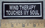 3596 L - WIND THERAPY - Touches My Soul - Embroidery Patch