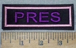 3602 L - Pres - Pink - Embroidery Patch