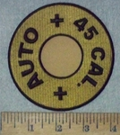 3623 G - Auto Cal. 45 Bullet - Embroidery Patch