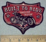 3624 G - Built To Ride - American Kustom - Vintage  Motorcycle - Embroidery Patch