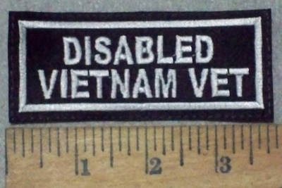 3627 L - Disabled Vietnam Vet - Embroidery Patch