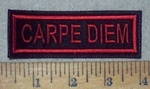 3631 L - Carpe Diem - Red - Embroidery Patch