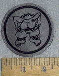 "3634 L - ""Mooning "" - Bare Butt Cheeks - Gray - Embroidery Patch"