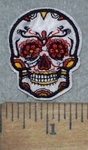 3640 C - Mini White Skull - Embroidery Patch