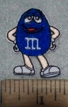 3641 C - Blue Mini M&M - Embroidery Patch