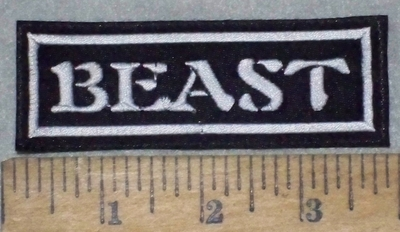 3654 L - Beast -White - Embroidery Patch