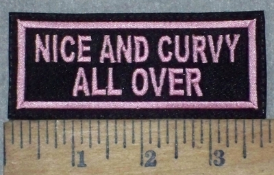 3664 L - Nice And Curvy All Over - Pink - Embroidery Patch