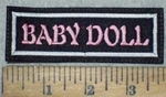 3669 L - Baby Doll - Pink - White - Embroidery Patch