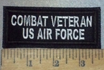 3675 L - Combat Veteran US Air Force - Embroidery Patch
