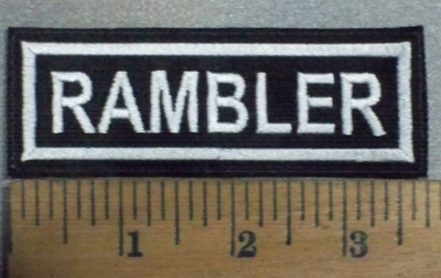 3707 L - Rambler - Embroidery Patch