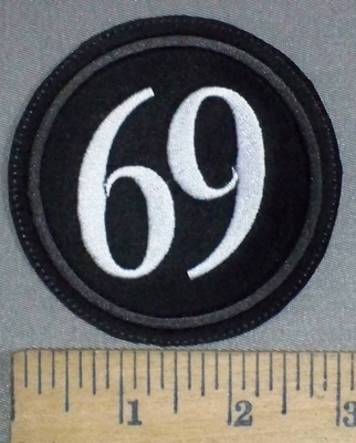 3715 L - 69 - Round - Embroidery Patch