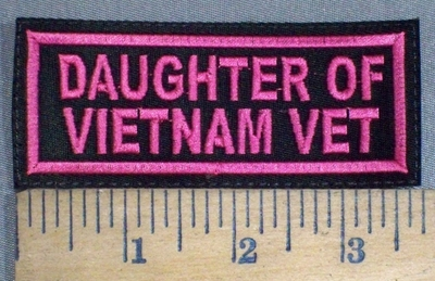 3721 L - Daughter Of Vietnam Vet - Pink - Embroidery Patch