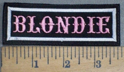3728 L - Blondie - Embroidery Patch