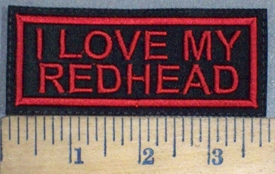 3729 L - I Love My Redhead - Red - Embroidery Patch