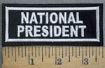 3734 L- National President - Embroidery Patch